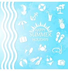 happy summer holiday vector image