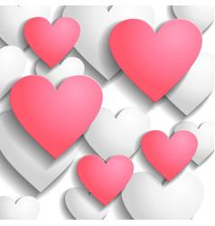 heart back pink vector image