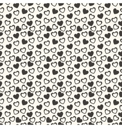 Heart shape seamless pattern vector image
