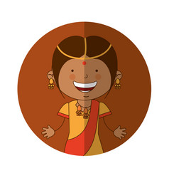 hindu little girl character vector image