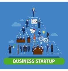 Human pyramid teamwork vector image