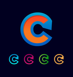 Initial c logo template and inspiration vector
