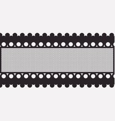 lace horizontal seamless close-up in monochrome vector image