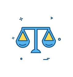 libra icon design vector image