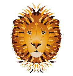 Lion portrait head cartoon style white background vector