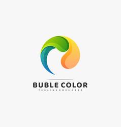 logo bubble color gradient colorful style vector image