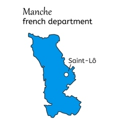 Manche french department map vector image