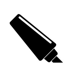 marker write school utensil pictogram vector image