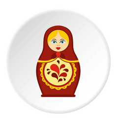 Matrioshka icon circle vector