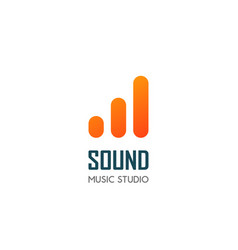 Modern logo template for audio and music vector