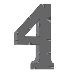 Numeral four vector image