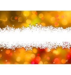 Orange Christmas background with copyspace EPS 10 vector image