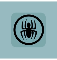 Pale blue spider sign vector