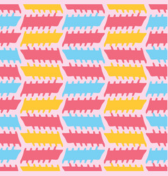 peach memphis style geometric stripes seamless vector image