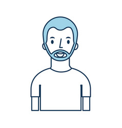 portrait man character male person image vector image