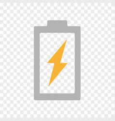 power battery energy lightning bolt icon vector image