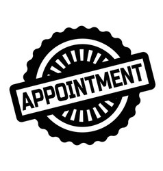 Print appointment stamp on white vector