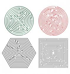 Printable mazes collection vector