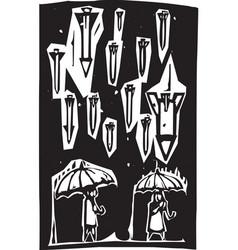 raining missiles vector image
