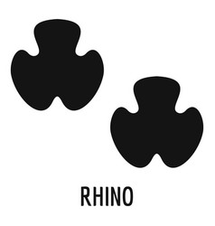 rhino step icon simple style vector image