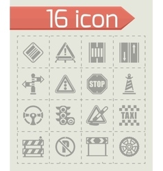 Road icon set vector