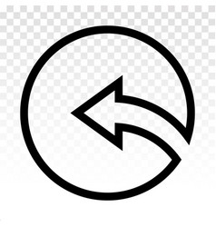 Rounded left arrow or back previous buttons vector