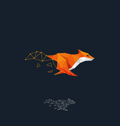 running fox color design concept template vector image