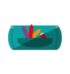 school supplies case isolated icon vector image