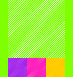 set striped diagonal lines pattern colorful vector image