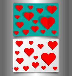 set valentines day or mothers day vintage banners vector image