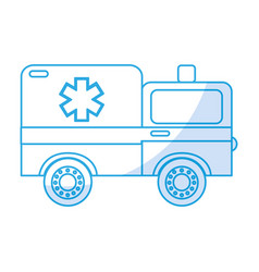 shadow ambulance car cartoon vector image