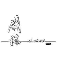 skateboard background web banner poster vector image