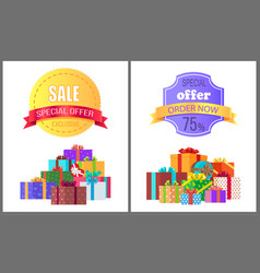 special offer exclusive sale order now discount vector image