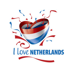 the national flag netherlands and the vector image