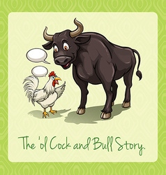 The old cock and bull story vector image