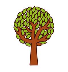 tree plant ecology icon vector image
