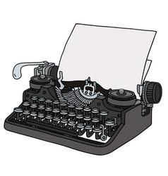 Vintage portable typewriter vector