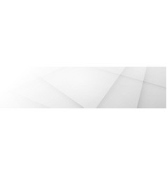 White abstract horizontal banner background vector