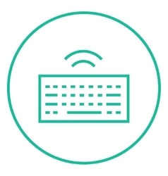 Wireless keyboard line icon vector image