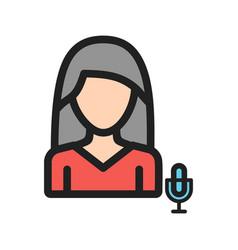 Woman anchor vector