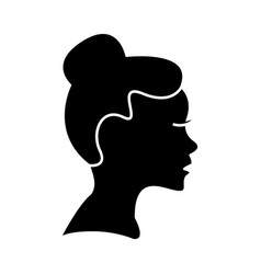 woman profile icon sign o vector image