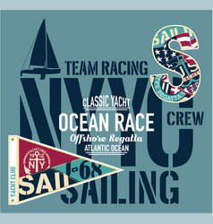yacht club racing sailing offshore regatta vector image