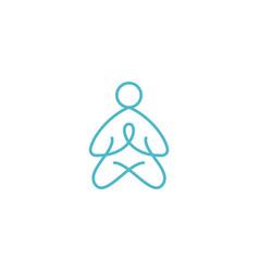 Yoga meditation graphic design template simple vector