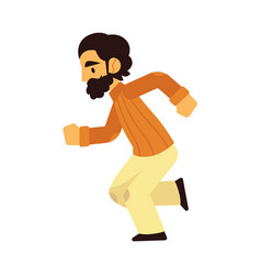 Young bearded man in casual vector