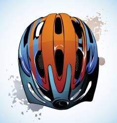 bicycle helmet vector image vector image