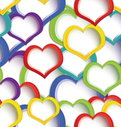Colorful hearts seamless vector image vector image