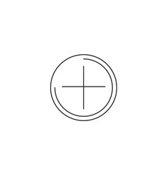 add plus icon vector image vector image