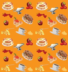 background with pancakes vector image vector image