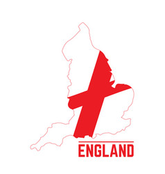 flag and map of england vector image vector image