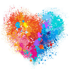heart in warm and cold colors vector image vector image